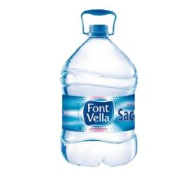 Agua mineral FONT VELLA, 6,25 l Pack 3 uds