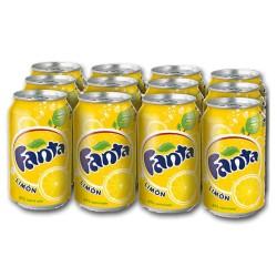 Fanta limón  33cl, Pack 12 uds.