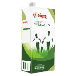 Leche semidesnatada IFA Eliges (o similar), 1l Pack 6 uds.
