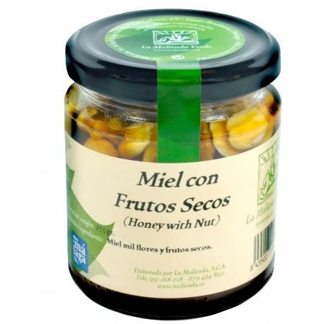Miel con frutos secos LA MOLIENDA VERDE 300 gr.