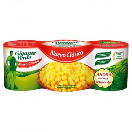 Maíz dulce GIGANTE VERDE 3x160 gr.