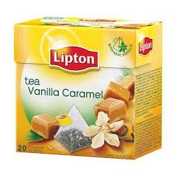 Té vainilla caramelo LIPTON 20 sobres